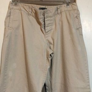 Distressed khaki GAP pants-size 10